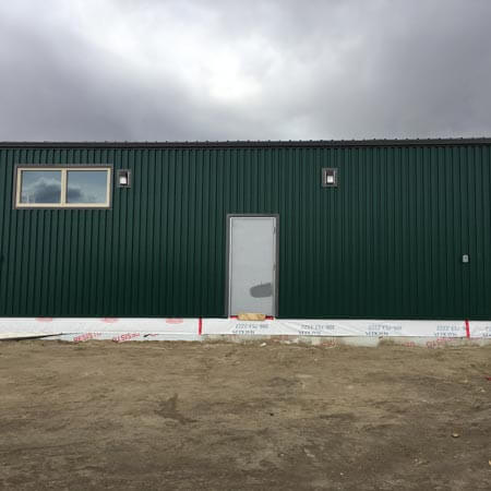 Business Building Green Siding